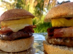 Pineapple Bacon & Chipotle Sliders with Grilled Sweet Potatoes. {FIREWORKSSLIDERS}